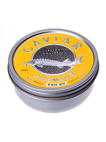 Черная осетровая икра дикого вылова стерляди Imperial - Империал Каспийская 250 грамм жесть банка