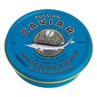 Черная осетровая икра калуги 50 г Империал Каспийская