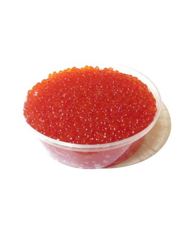 Икра красная лососевая чавыча - первый сорт Россия (Сахалин и Камчатка) контейнер 500 грамм охлажденная