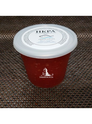 Икра горбуши шоковой заморозки 540 грамм пластик с евро ключом